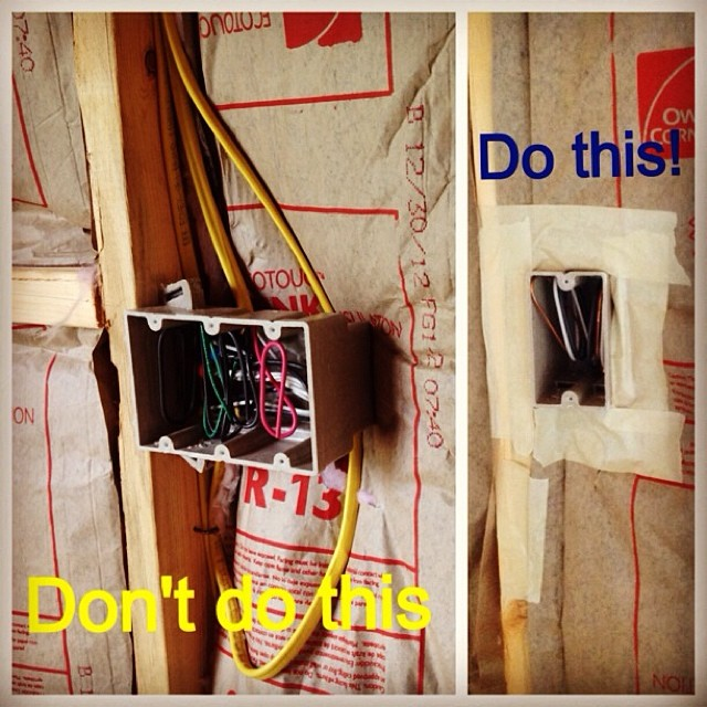 How to air seal the wall cavity and prevent improper insulation install. #deepsouth #builditright
