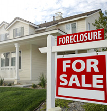 Sign of Foreclosed Home