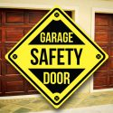 Garage Door Safety Sign - Gary Smith - Professional Home Inspector