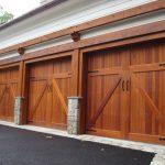 Picture of wood garage door - gary smith - home inspector