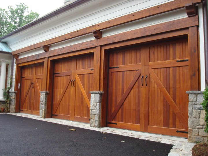 Picture of wood garage door - gary smith - home inspector