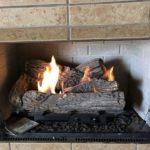 ventless fireplace showing log set