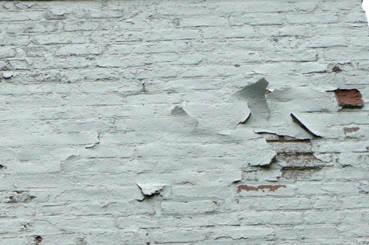 peeling paint on wall