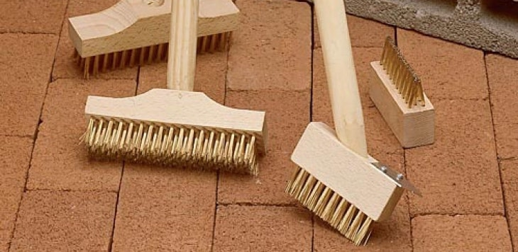 Stiff Brush Cleaning Brick